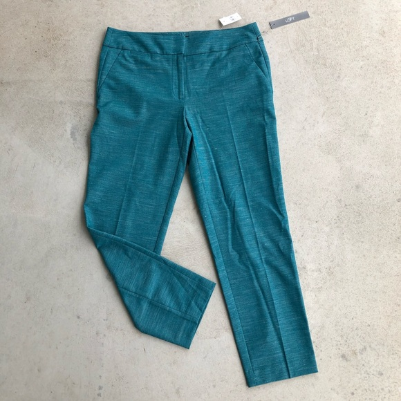 LOFT Pants - •new• Loft Teal Marisa Pencil Ankle Length Pant